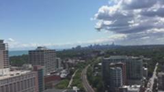 Aerial View Evanston, Chicago
